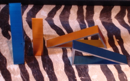 Blue and Orange Anodized Pieces